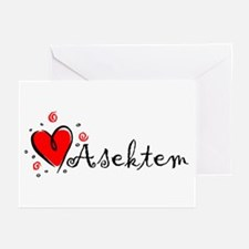 """""""I Love You"""" [Kurdish] Greeting Cards (Package of"""