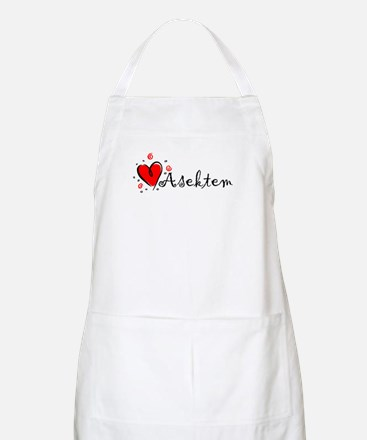 """I Love You"" [Kurdish] BBQ Apron"