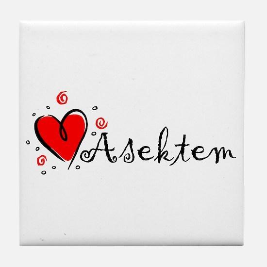 """I Love You"" [Kurdish] Tile Coaster"