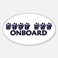 Deaf Dog Onboard Oval Decal