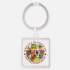 alice who let blondie_RED copy Square Keychain