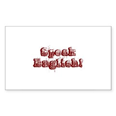 Speak English - Faded Rectangle Decal
