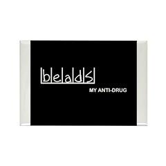 Beads - My Anti-Drug Rectangle Magnet