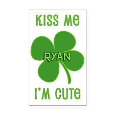 Kiss Me Ryan Rectangle Car Magnet