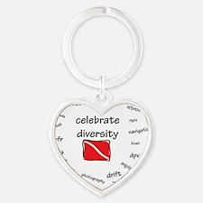 10x10-tshirt-celbrate-diversity Heart Keychain