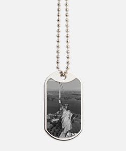 Marks Statue T-shirt Dog Tags