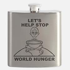 World Hunger Black Flask