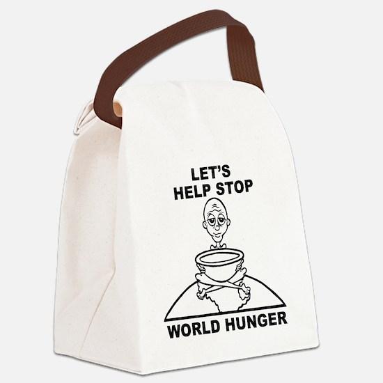 World Hunger Black Canvas Lunch Bag