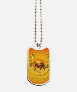 Year Of The Tiger 2010-oval ornament Dog Tags