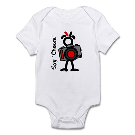 Red SayCheese1 Infant Bodysuit