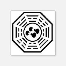 "Dharma weights black Square Sticker 3"" x 3"""