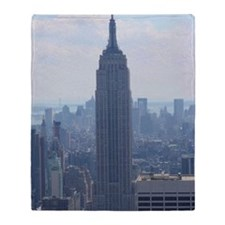 ChryslerBuildingNYC 11x17 Horz Throw Blanket