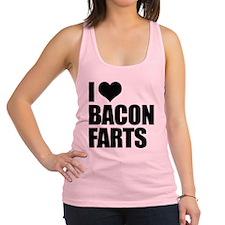 I Love Bacon Farts Racerback Tank Top
