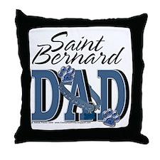 StBernardDad Throw Pillow