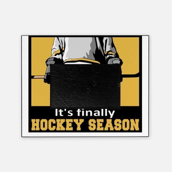 finally hockey season Picture Frame