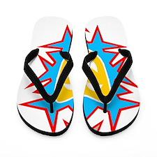 Dark t gold mask Flip Flops