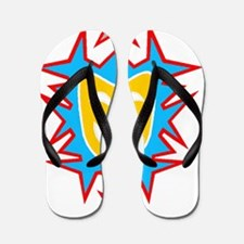 Dark t gold mask Flip Flops