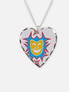 Dark t gold mask Necklace