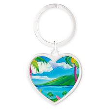 Sunny MauiMouse Heart Keychain