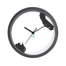 whateverhappenedGRAY Wall Clock