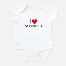 """""""I Love St. Eustatius"""" Infant Bodysuit"""
