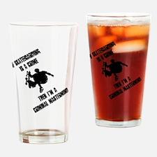 skate_bk_10x10 Drinking Glass