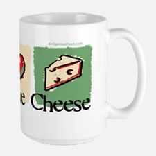 peacelovecheese_bmpr Large Mug
