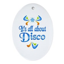 About Disco Ornament (Oval)