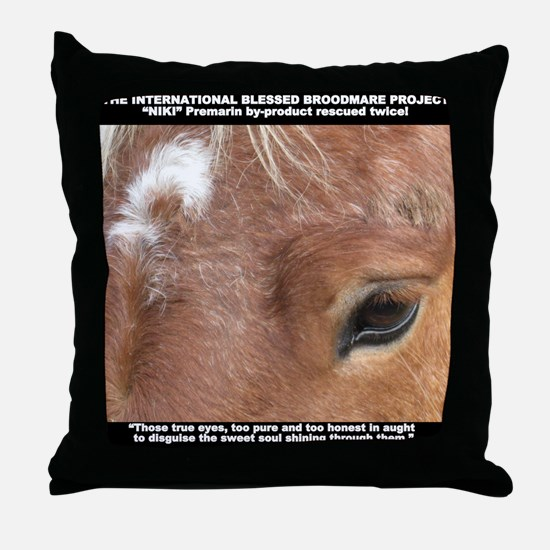 Niki shirt updated Throw Pillow