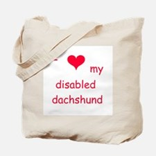 disabled dachshund Tote Bag