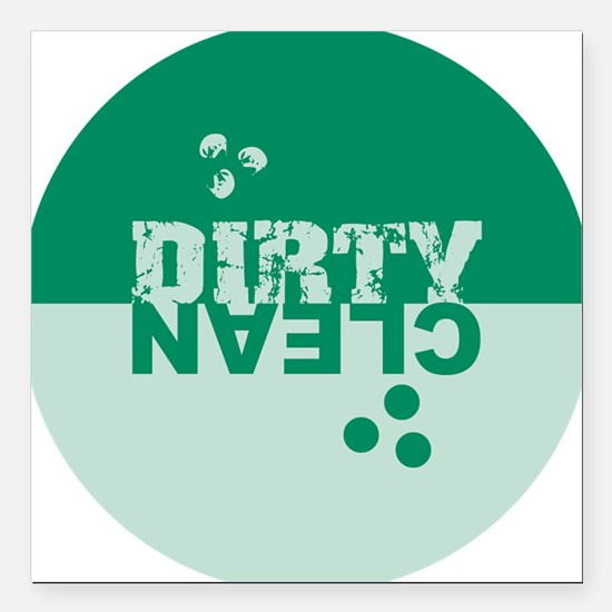 "dirtyclean_greens Square Car Magnet 3"" x 3"""