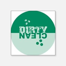 """dirtyclean_greens Square Sticker 3"""" x 3"""""""