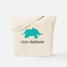 I Love Elephants Tote Bag