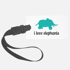 I Love Elephants Luggage Tag