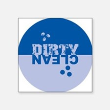 """dirtyclean_blues Square Sticker 3"""" x 3"""""""