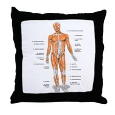 Muscles anatomy body Throw Pillow