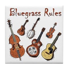 Bluegrass Rules Tile Coaster
