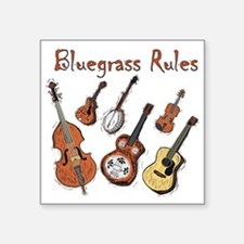 "Bluegrass Rules Square Sticker 3"" x 3"""