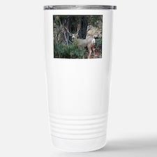 Mule deer spur buck Stainless Steel Travel Mug