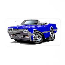 1966 Olds Cutlass Blue Conv Aluminum License Plate