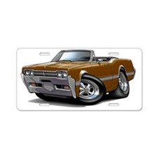 1966 Olds Cutlass Brown Con Aluminum License Plate