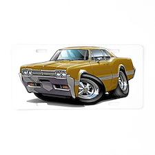 1966 Olds Cutlass Gold Car Aluminum License Plate