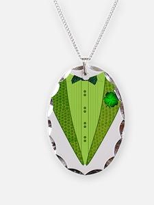 tux irish Necklace Oval Charm
