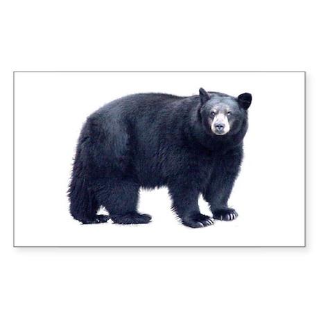 Black Bear Rectangle Sticker