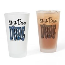 ShihPooDude Drinking Glass