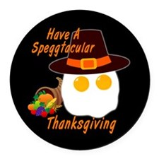 Speggtacular Thanksgiving! Round Car Magnet
