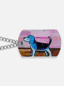 Blue Beagle Dog Tags