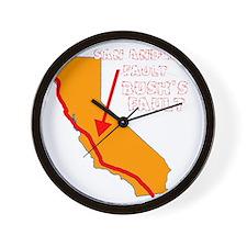 2-bushfault_dk Wall Clock