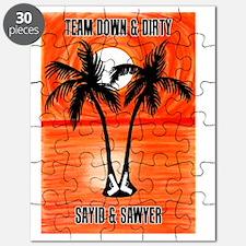 Sayid Sawyer 8x10 Lost black orange black 0 Puzzle