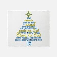 Luke 2:13-14 Throw Blanket